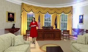 """Danuta Holecka w Białym Domu. Widzowie """"Wiadomości"""" mają używanie"""