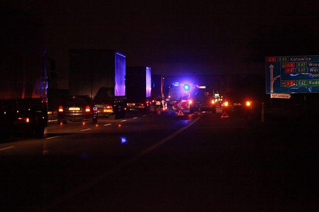 Do wypadku doszło na autostradzie A4 w Zabrzu.