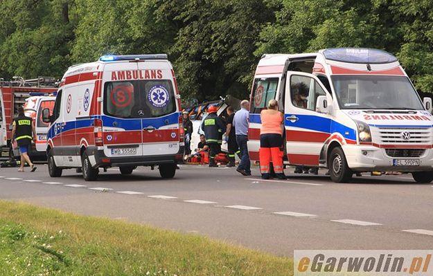 Tragiczny wypadek ukraińskiego autobusu na obwodnicy Garwolina