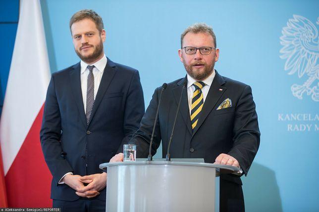Afera respiratorowa. Na zdjęciu Janusz Cieszyński oraz Łukasz Szumowski
