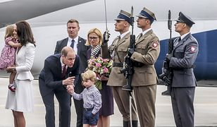 Księżna Kate i książę William z dziećmi podczas wizyty w Polsce
