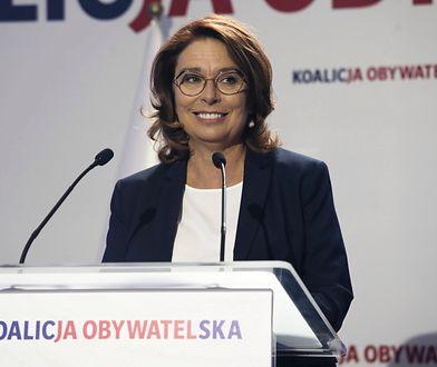 Małgorzata Kidawa-Błońska krytycznie o programie wyborczym PiS