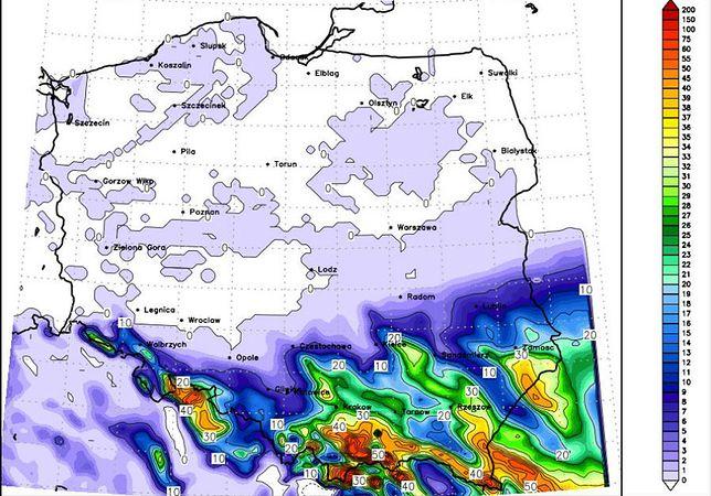 Jest mapa ataku zimy. Warszawa uratowana, pod Krakowem spadnie pół metra śniegu