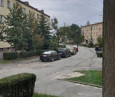 Ulica w Kłobucku, mieście powiatowym
