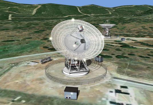 Antena zlokalizowana w Hiszpanii. Fot. NASA