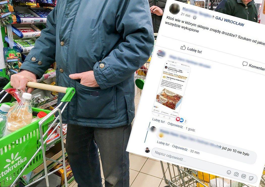 Koronawirus w Polsce. Z półek sklepowych znikają drożdże. Sklepy wprowadzają limity