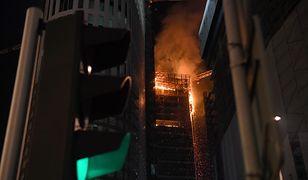 Pożar w kompleksie Warsaw Hub