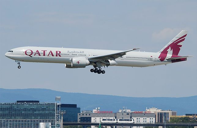 Samolot linii Qatar Airways