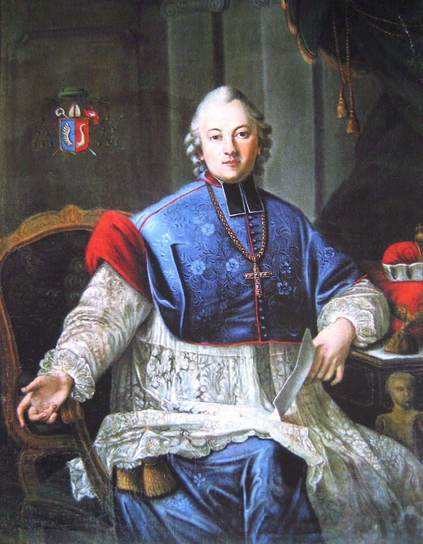 Czekolada na imieninach bp Ignacego Krasickiego na zamku w Lidzbarku