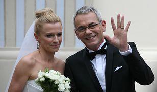 Robert Janowski z żoną Moniką Janowską