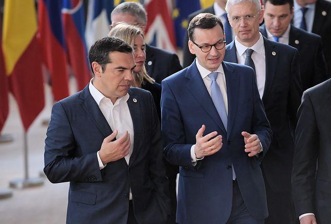 Premierzy Grecji Aleksis Tsipras i Polski Mateusz Morawiecki
