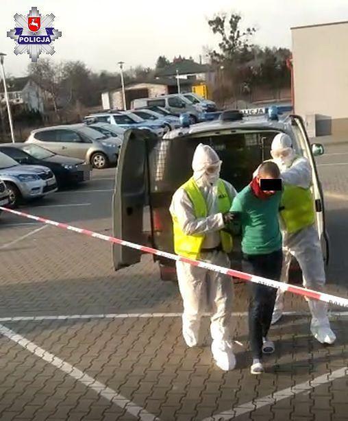 Lubelska policja podczas zatrzymania 26-latka zastosowała specjalne środki ostrożności