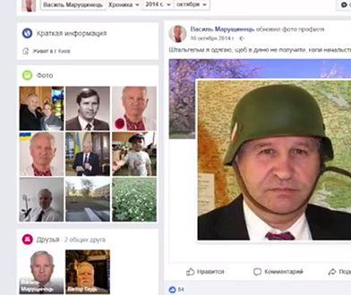 Bloger pokazał też zdjęcie dyplomaty w hełmie Wehrmachtu