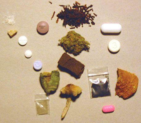 Różne rodzaje środków psychoaktywnych - rodzaje