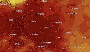 Rekordowe temperatury w kraju