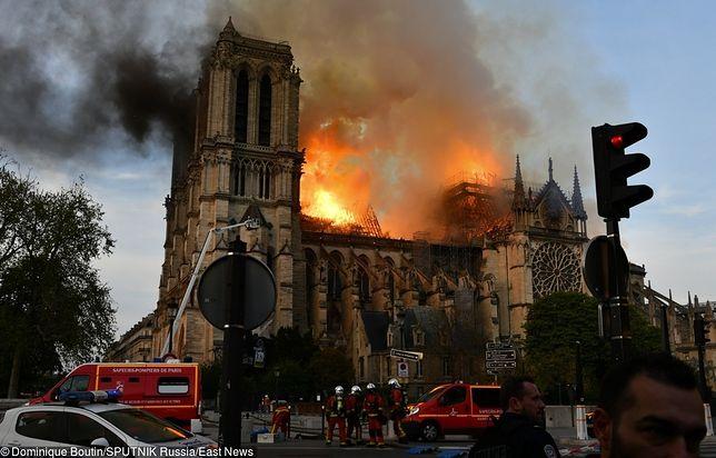 Pożar katedry Notre Dame.