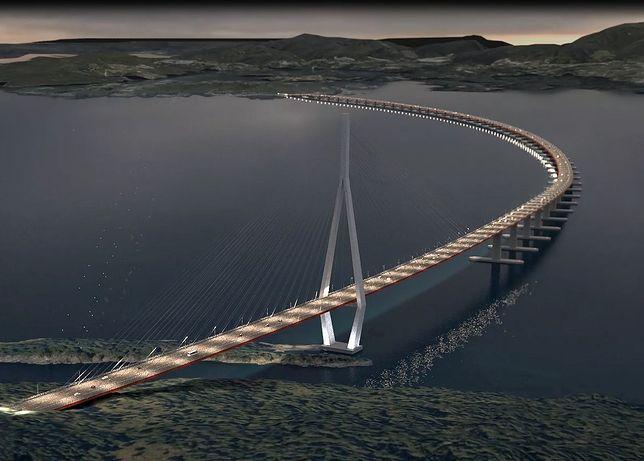 Most zostanie zbudowany nad wodą o głębokości 550 metrów