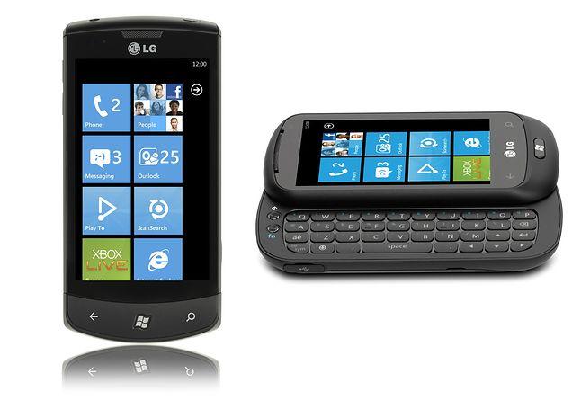 Dwa pierwsze smartfony z Windows Phone od LG: E900 i C900