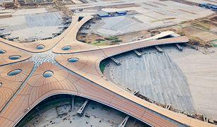 Pekin-Daxing ma charakterystyczny kształt rozgwiazdy, które tworzą poszczególne hale łączące się w holu głównym