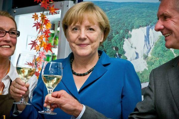 Angela Merkel świętuje zwycięstwo