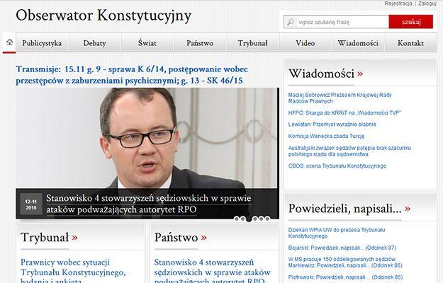 """""""Obserwator Konstytucyjny"""" zniknął z Sieci"""