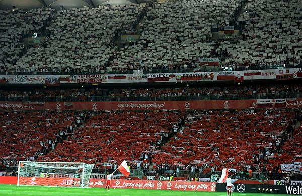 Kibice podczas meczu Polska-Niemcy