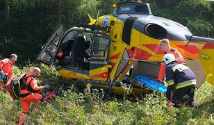 Szczuczyn. Wypadek na drodze do Wąsosza. Dwie ekipy LPR w akcji