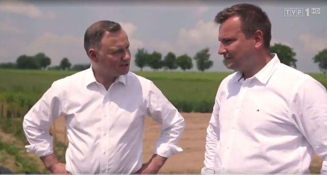 Prezydent Andrzej Duda i Grzegorz Bardowski