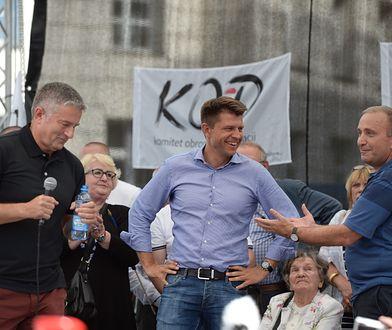 Od lewej: Władysław Frasyniuk, Ryszard Petru i Grzegorz Schetyna