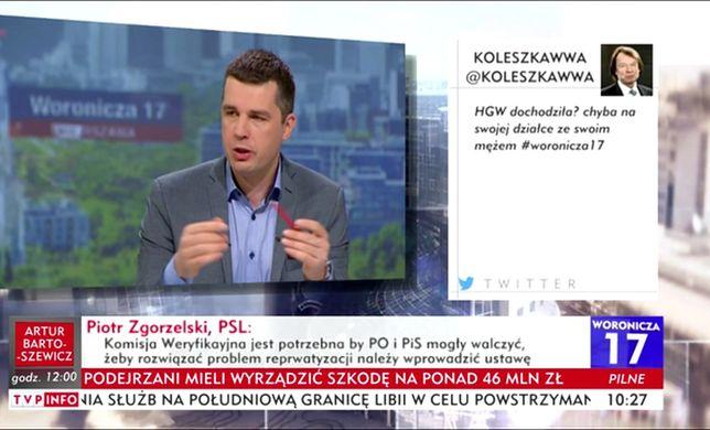 """Gronkiewicz-Waltz """"dochodziła"""". Wulgarny tweet o prezydent w TVP Info"""