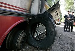 Awaria i pożar autokaru - 13 dzieci rannych, 3 ciężko