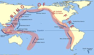 Pierścień ognia. Trzęsienia ziemi i zagrożenie wybuchem wulkanów są tu codziennością