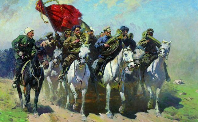Trębacze 1. Armii Konnej, obraz Mitrofana Grekowa (1934 r.)
