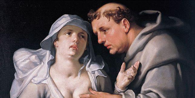 "Obraz ""Mnich i zakonnica"" Cornelisa van Haarlema z 1591 r."
