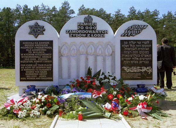 Pomnik upamiętniający ofiary obozu zagłady w Kulmhof