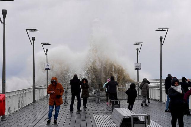 W Kołobrzegu prędkość wiatru dochodziła do 100 km/godz.