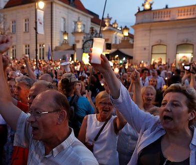Protesty w obronie sądów miały burzliwy przebieg