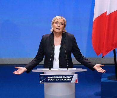 Marine Le Pen wygłasza przemówienie podczas zjazdu Frontu Narodowego