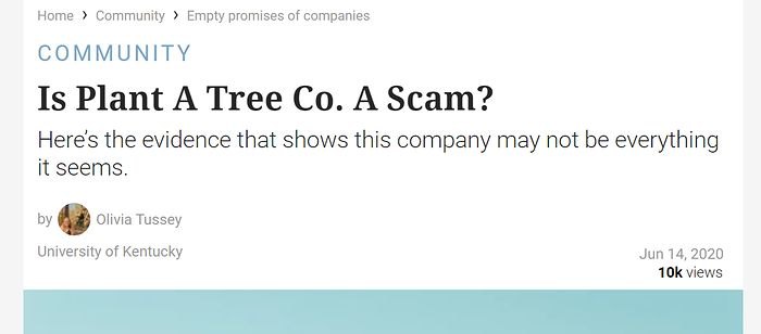 Plant A Tree Co. to oszustwo?