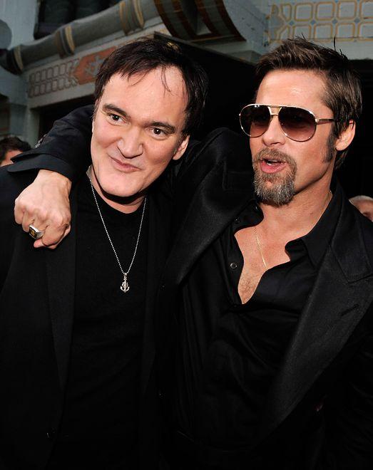Quentin Tarantino i Brad Pitt, Kalifornia, 2009 r.