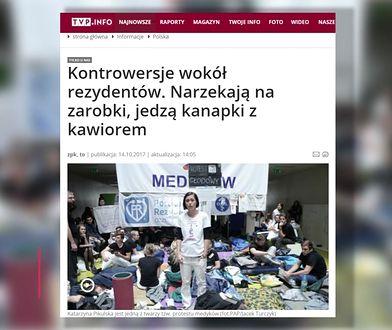 Lisicki o nagonce TVP Info na rezydentów: bezsensowne zagranie; Żakowski: manipulacja