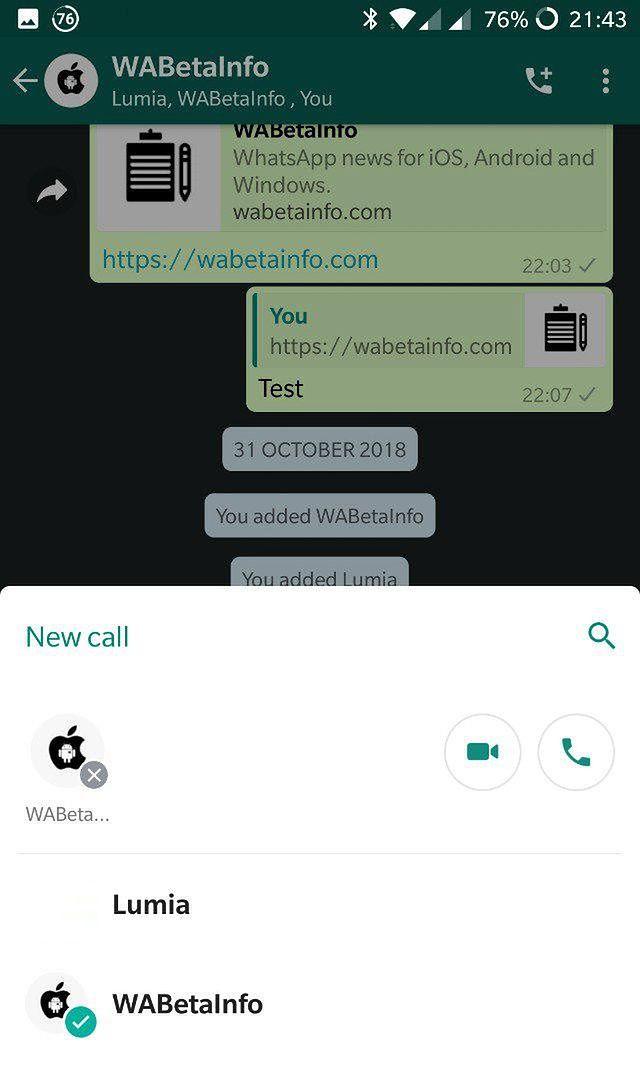 WhatsApp beta, źródło: WABetaInfo.