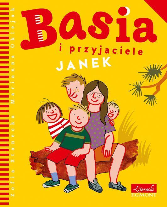 """Okładka książki """"Basia i przyjaciele: Janek"""""""