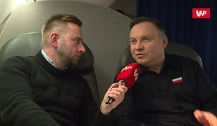 Andrzej Duda dla WP: problem polega na paleniu śmieci