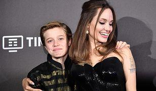 "Shiloh Jolie-Pitt i Angelina Jolie na premierze filmu ""Czarownica 2"""