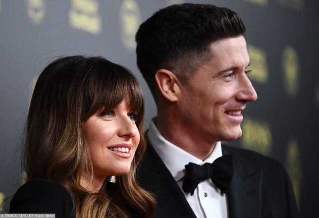 Anna i Robert Lewandowscy na gali Złotej Piłki 2019