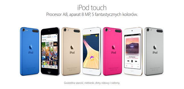 iPod Touch nie jest już szczególnie promowanym produktem, źródło: Apple.