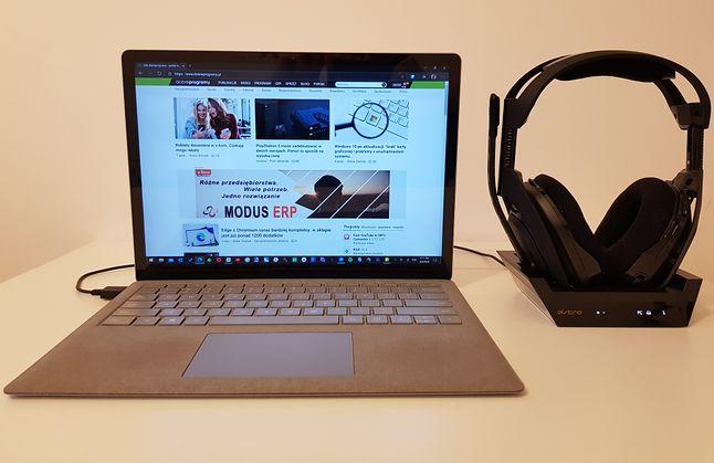 Słuchawki Astro Gaming A50 posłużą nam także na PC, gdzie skorzystamy z dodatkowego oprogramowania, fot. Jakub Krawczyński