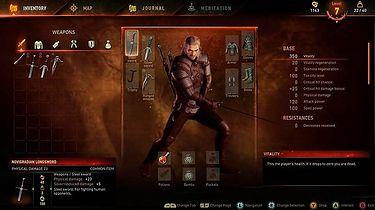 Wiedźmin 3: Dziki Gon - analiza interfejsu i menu gry