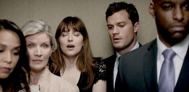 """Dakota Johnson i Jamie Dornan w filmie """"Ciemniejsza strona Greya"""""""